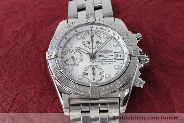 Used luxury watch Breitling Chronomat chronograph steel automatic Kal. B13 ETA 7750 Ref. A13358  | 152795 17