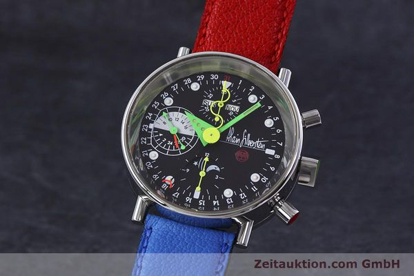 Used luxury watch Alain Silberstein Krono Bauhaus chronograph steel automatic Kal. ETA 7750  | 152814 04