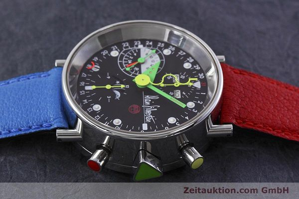 Used luxury watch Alain Silberstein Krono Bauhaus chronograph steel automatic Kal. ETA 7750  | 152814 05