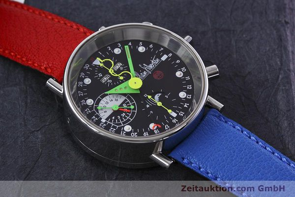 Used luxury watch Alain Silberstein Krono Bauhaus chronograph steel automatic Kal. ETA 7750  | 152814 13