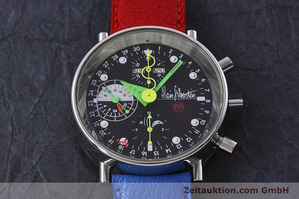 Used luxury watch Alain Silberstein Krono Bauhaus chronograph steel automatic Kal. ETA 7750  | 152814 14
