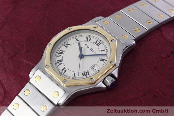 Used luxury watch Cartier Santos steel / gold quartz Kal. 687  | 152815 01