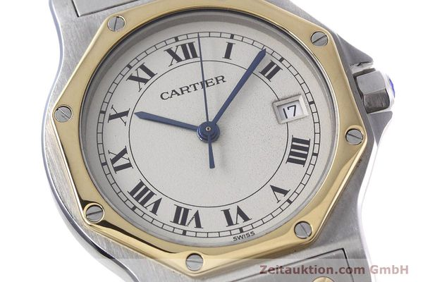 Used luxury watch Cartier Santos steel / gold quartz Kal. 687  | 152815 02