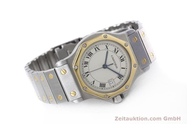 Used luxury watch Cartier Santos steel / gold quartz Kal. 687  | 152815 03