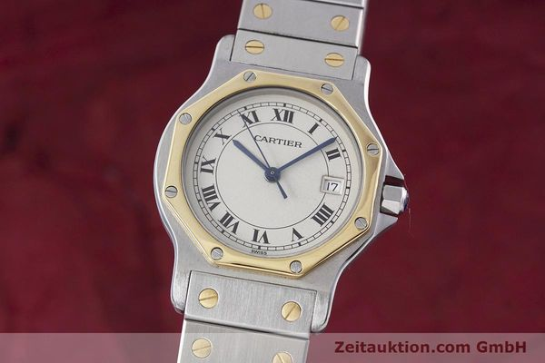 Used luxury watch Cartier Santos steel / gold quartz Kal. 687  | 152815 04