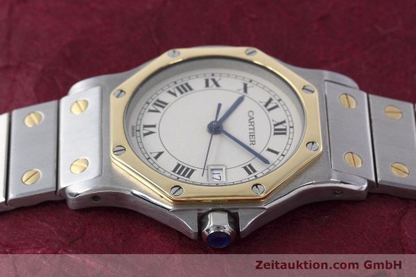 Used luxury watch Cartier Santos steel / gold quartz Kal. 687  | 152815 05
