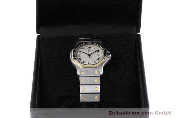 Used luxury watch Cartier Santos steel / gold quartz Kal. 687  | 152815 07