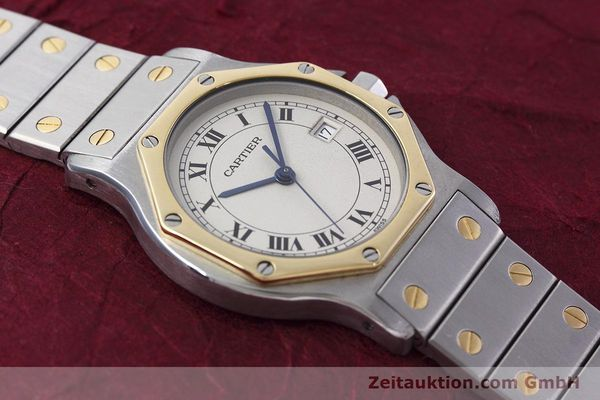 Used luxury watch Cartier Santos steel / gold quartz Kal. 687  | 152815 15