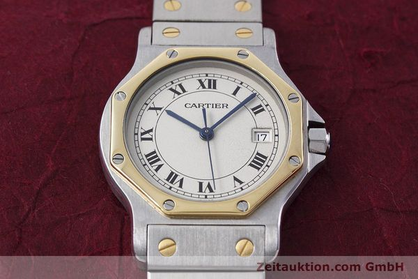 Used luxury watch Cartier Santos steel / gold quartz Kal. 687  | 152815 16
