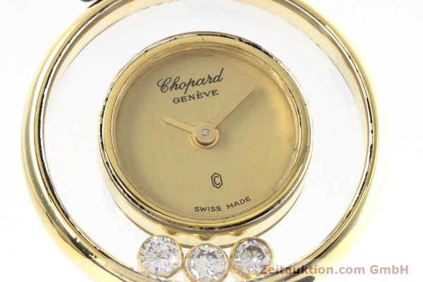 gebrauchte Luxusuhr Chopard Happy Diamonds 18k Gold Quarz Kal. ETA 201.001 Ref. 4069  | 152818 02