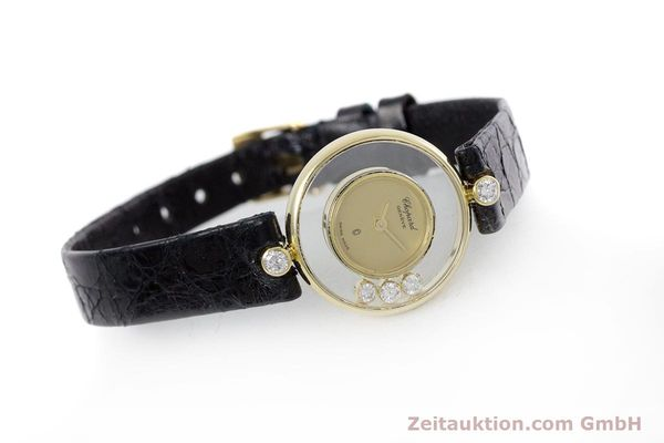 gebrauchte Luxusuhr Chopard Happy Diamonds 18k Gold Quarz Kal. ETA 201.001 Ref. 4069  | 152818 03