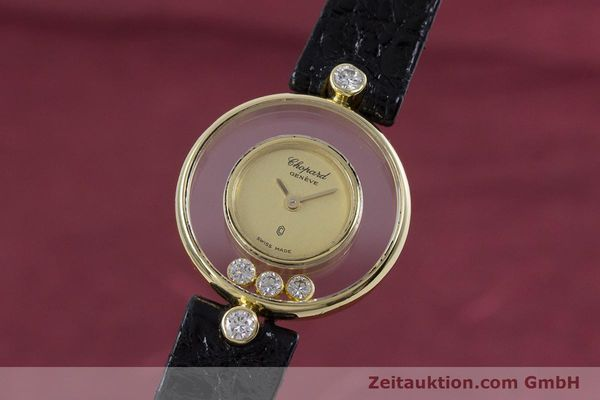 gebrauchte Luxusuhr Chopard Happy Diamonds 18k Gold Quarz Kal. ETA 201.001 Ref. 4069  | 152818 04