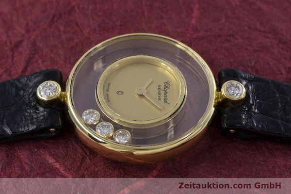 gebrauchte Luxusuhr Chopard Happy Diamonds 18k Gold Quarz Kal. ETA 201.001 Ref. 4069  | 152818 05