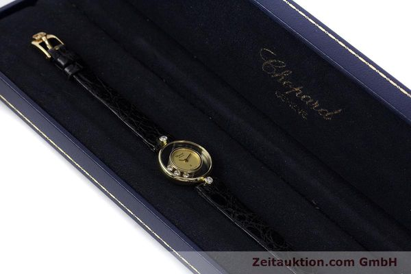 gebrauchte Luxusuhr Chopard Happy Diamonds 18k Gold Quarz Kal. ETA 201.001 Ref. 4069  | 152818 07