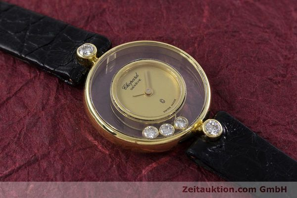 Used luxury watch Chopard Happy Diamonds 18 ct gold quartz Kal. ETA 201.001 Ref. 4069  | 152818 14