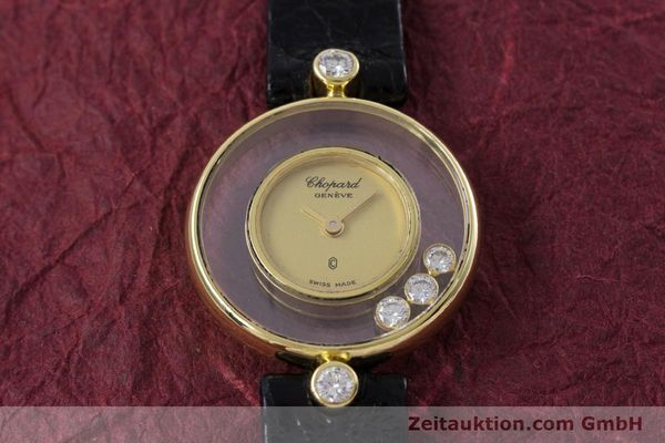 gebrauchte Luxusuhr Chopard Happy Diamonds 18k Gold Quarz Kal. ETA 201.001 Ref. 4069  | 152818 15