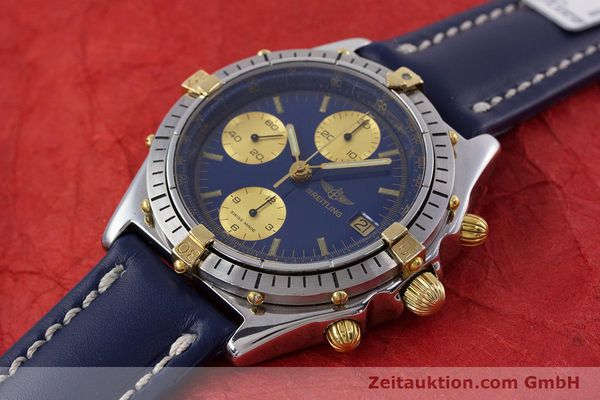 Used luxury watch Breitling Chronomat chronograph steel / gold automatic Kal. B13 ETA 7750 Ref. 81950B13047  | 152820 01