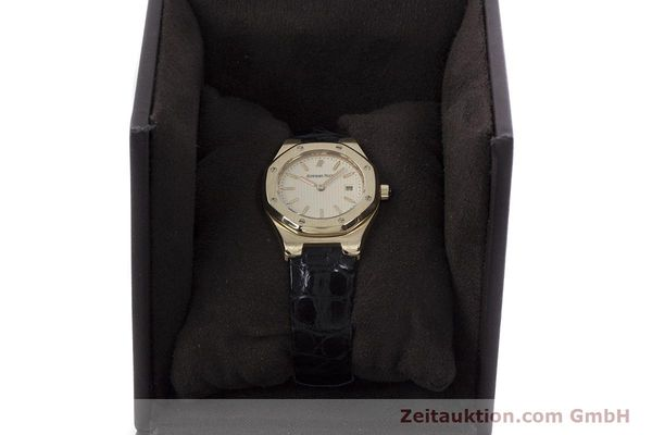gebrauchte Luxusuhr Audemars Piguet Royal Oak 18k Gold Quarz Kal. 2610 Ref. D66579  | 152828 07