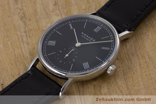 Used luxury watch Nomos Ludwig steel manual winding Kal. Alpha  | 152861 01