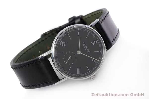 Used luxury watch Nomos Ludwig steel manual winding Kal. Alpha  | 152861 03