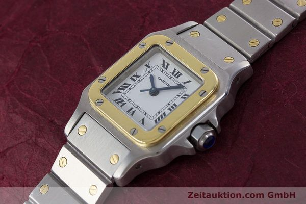Used luxury watch Cartier Santos steel / gold automatic Kal. ETA 2670  | 152882 01