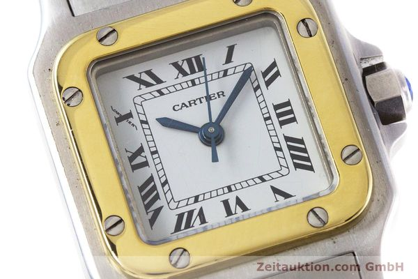 Used luxury watch Cartier Santos steel / gold automatic Kal. ETA 2670  | 152882 02