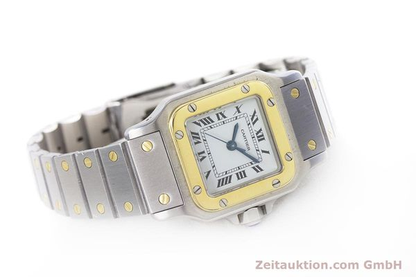 Used luxury watch Cartier Santos steel / gold automatic Kal. ETA 2670  | 152882 03
