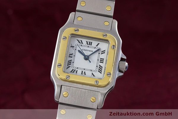 Used luxury watch Cartier Santos steel / gold automatic Kal. ETA 2670  | 152882 04