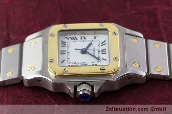 Used luxury watch Cartier Santos steel / gold automatic Kal. ETA 2670  | 152882 05