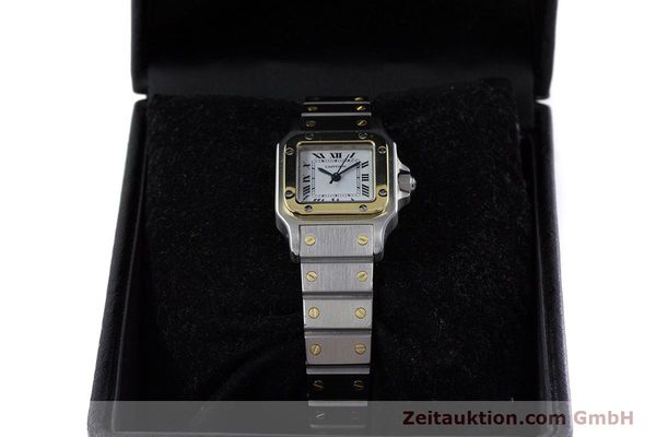 Used luxury watch Cartier Santos steel / gold automatic Kal. ETA 2670  | 152882 07