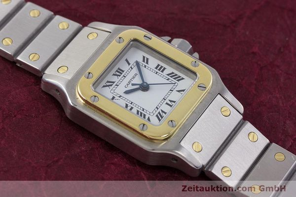 Used luxury watch Cartier Santos steel / gold automatic Kal. ETA 2670  | 152882 12