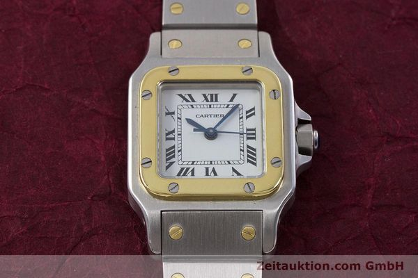 Used luxury watch Cartier Santos steel / gold automatic Kal. ETA 2670  | 152882 13