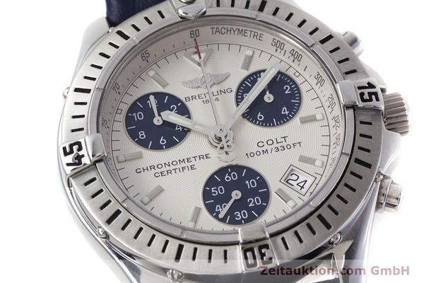 Used luxury watch Breitling Colt chronograph steel quartz Kal. B73 ETA 251232 Ref. A73350  | 152901 02