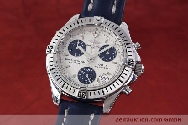 Used luxury watch Breitling Colt chronograph steel quartz Kal. B73 ETA 251232 Ref. A73350  | 152901 04