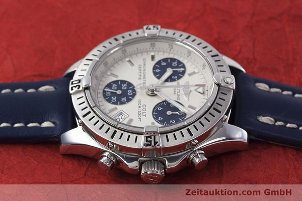 Used luxury watch Breitling Colt chronograph steel quartz Kal. B73 ETA 251232 Ref. A73350  | 152901 05