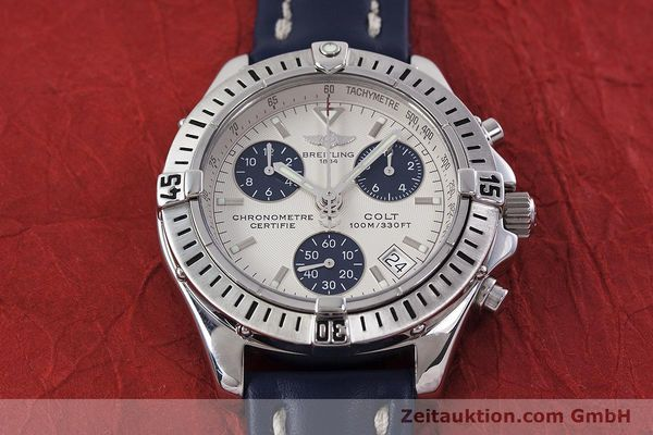 Used luxury watch Breitling Colt chronograph steel quartz Kal. B73 ETA 251232 Ref. A73350  | 152901 13