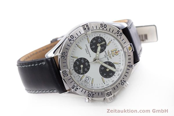 Used luxury watch Breitling Colt chronograph steel quartz Kal. B53 ETA 251262 Ref. A53035  | 152902 03