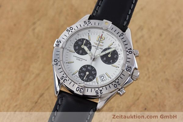 Used luxury watch Breitling Colt chronograph steel quartz Kal. B53 ETA 251262 Ref. A53035  | 152902 04