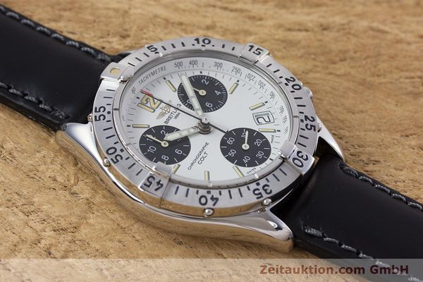 Used luxury watch Breitling Colt chronograph steel quartz Kal. B53 ETA 251262 Ref. A53035  | 152902 11