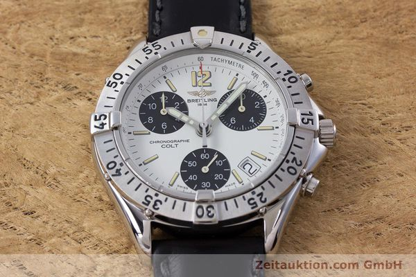 Used luxury watch Breitling Colt chronograph steel quartz Kal. B53 ETA 251262 Ref. A53035  | 152902 12