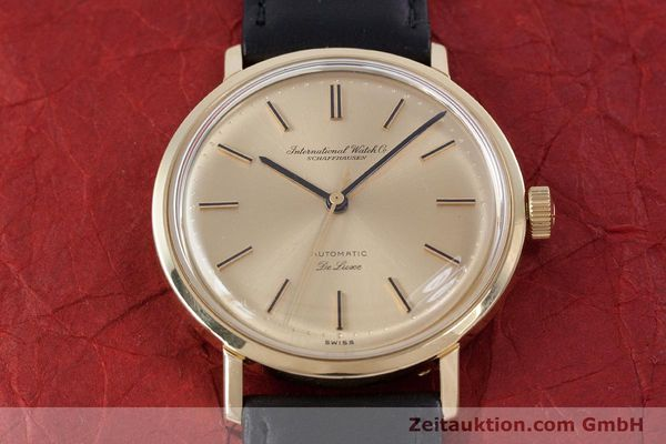Used luxury watch IWC De Luxe 18 ct gold automatic Kal. 854 Ref. R808A VINTAGE  | 152905 14