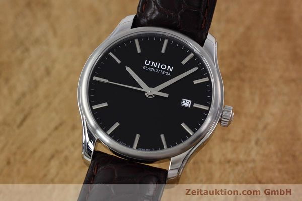 Used luxury watch Union Glashütte Viro steel automatic Kal. U2892A2 Ref. D001.407A  | 152912 04