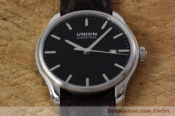 Used luxury watch Union Glashütte Viro steel automatic Kal. U2892A2 Ref. D001.407A  | 152912 15