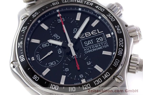 Used luxury watch Ebel 1911 chronograph steel automatic Kal. E750 ETA 7750 Ref. 9750L62  | 152926 02
