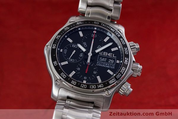 Used luxury watch Ebel 1911 chronograph steel automatic Kal. E750 ETA 7750 Ref. 9750L62  | 152926 04