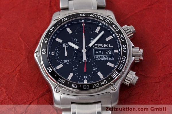 Used luxury watch Ebel 1911 chronograph steel automatic Kal. E750 ETA 7750 Ref. 9750L62  | 152926 17