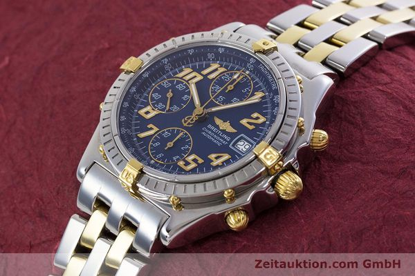 Used luxury watch Breitling Chronomat chronograph steel / gold automatic Kal. B13 ETA 7750 Ref. B13050.1  | 152935 01