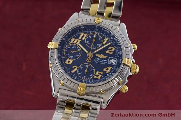 Used luxury watch Breitling Chronomat chronograph steel / gold automatic Kal. B13 ETA 7750 Ref. B13050.1  | 152935 04