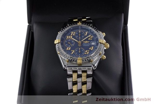 Used luxury watch Breitling Chronomat chronograph steel / gold automatic Kal. B13 ETA 7750 Ref. B13050.1  | 152935 07