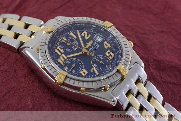 Used luxury watch Breitling Chronomat chronograph steel / gold automatic Kal. B13 ETA 7750 Ref. B13050.1  | 152935 15